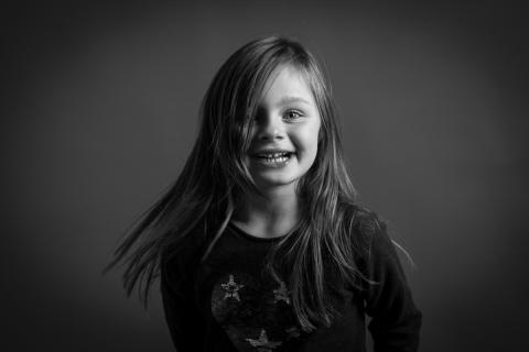 Séance portrait d'enfant en studio