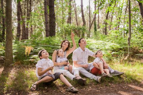 La famille C à l'étang de Joreau
