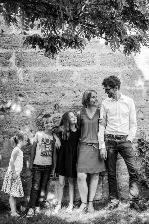 La famille A chez eux
